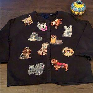 Vintage Michael Simon dog sweater 🐶